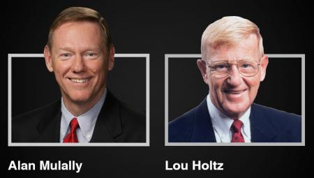 The UNT Kuehne Speaker Series welcomes Alan Mulally and Lou Holtz for the 2019-20 season.